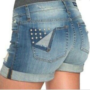 Rock & Republic Bumpershoot demin shorts sz 10